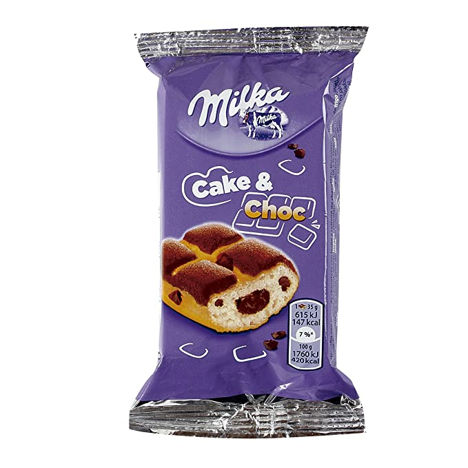 Milka - Mini tarta con chocolate y leche - 35 g