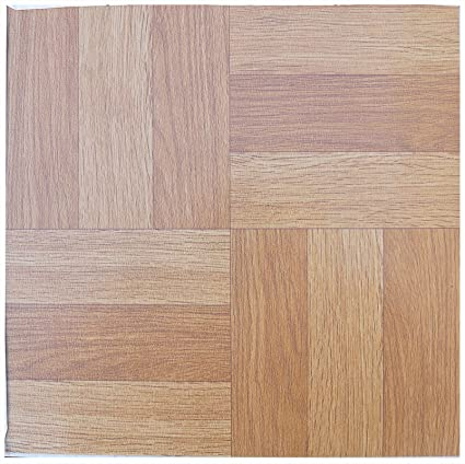 Floor Tiles Self Adhesive Wood Parquet Effect Vinyl Flooring Kitchen Bathroom 16 Tiles 16ft²