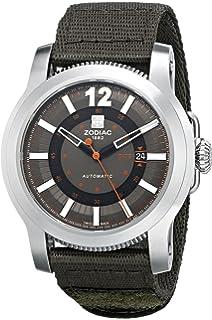 Zodiac ZMX Mens ZO9101 Jet-O-Matic Stainless Steel Watch with Nylon Strap