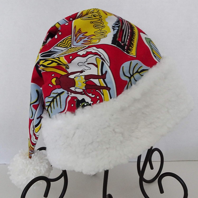 Hawaiian Surf Santa, Novelty Tropical Santa Hat, Surfer's Christmas Hat Surfer's Christmas Hat