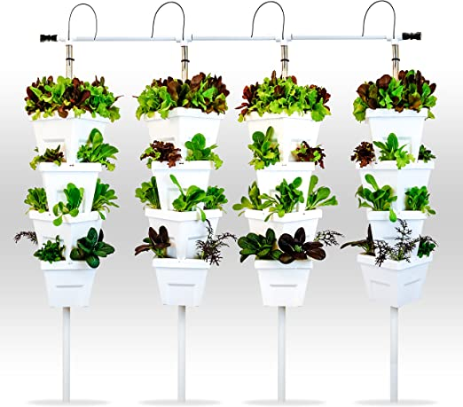 Vertical DIY 4 Torre jardín Sistema hidropónico: Amazon.es: Jardín