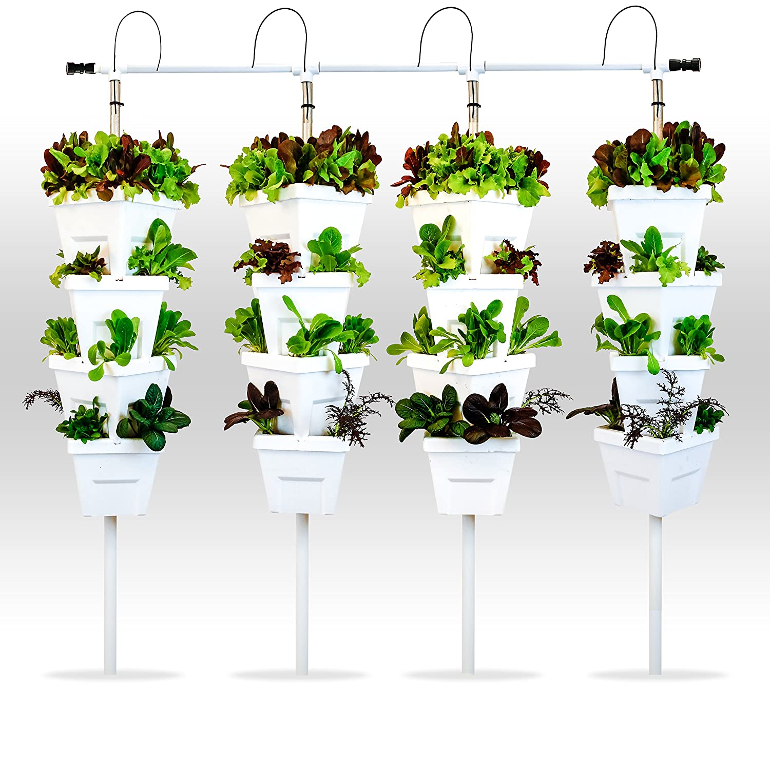 Amazon.com : Vertical Hydroponic DIY 4 Tower Garden System : Garden U0026  Outdoor