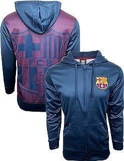 Fc Barcelona Hoodie for Adults and Kids Zip Front Fleece Sweatshirt Jacket  Blue be8791d4b