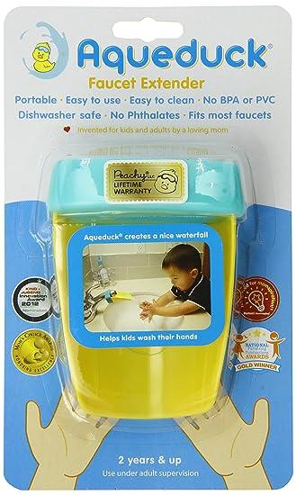 Amazon.com : Aqueduck Faucet Extender, Aqua : Bathtub Faucet And ...