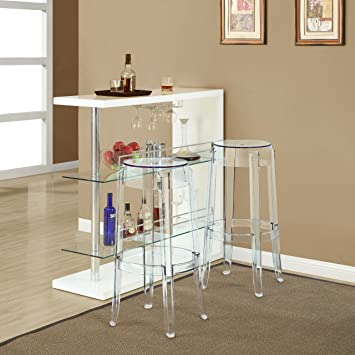 Admirable Modway Casper Modern Acrylic Two Bar Stools In Clear Fully Assembled Pabps2019 Chair Design Images Pabps2019Com