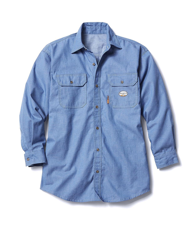 Rasco FR Mens Rasco Chambray Flame Resistant Work Shirt