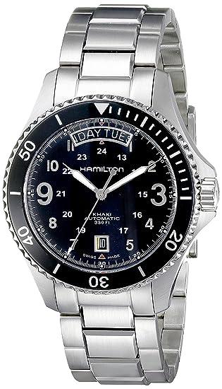 Hamilton Khaki Navy Scuba Auto - Reloj (Reloj de Pulsera, Masculino, Acero Inoxidable