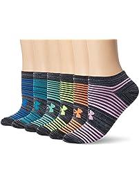 Under Armour Women's Essential Twist 2.0 No Show Socks (6 Pack)