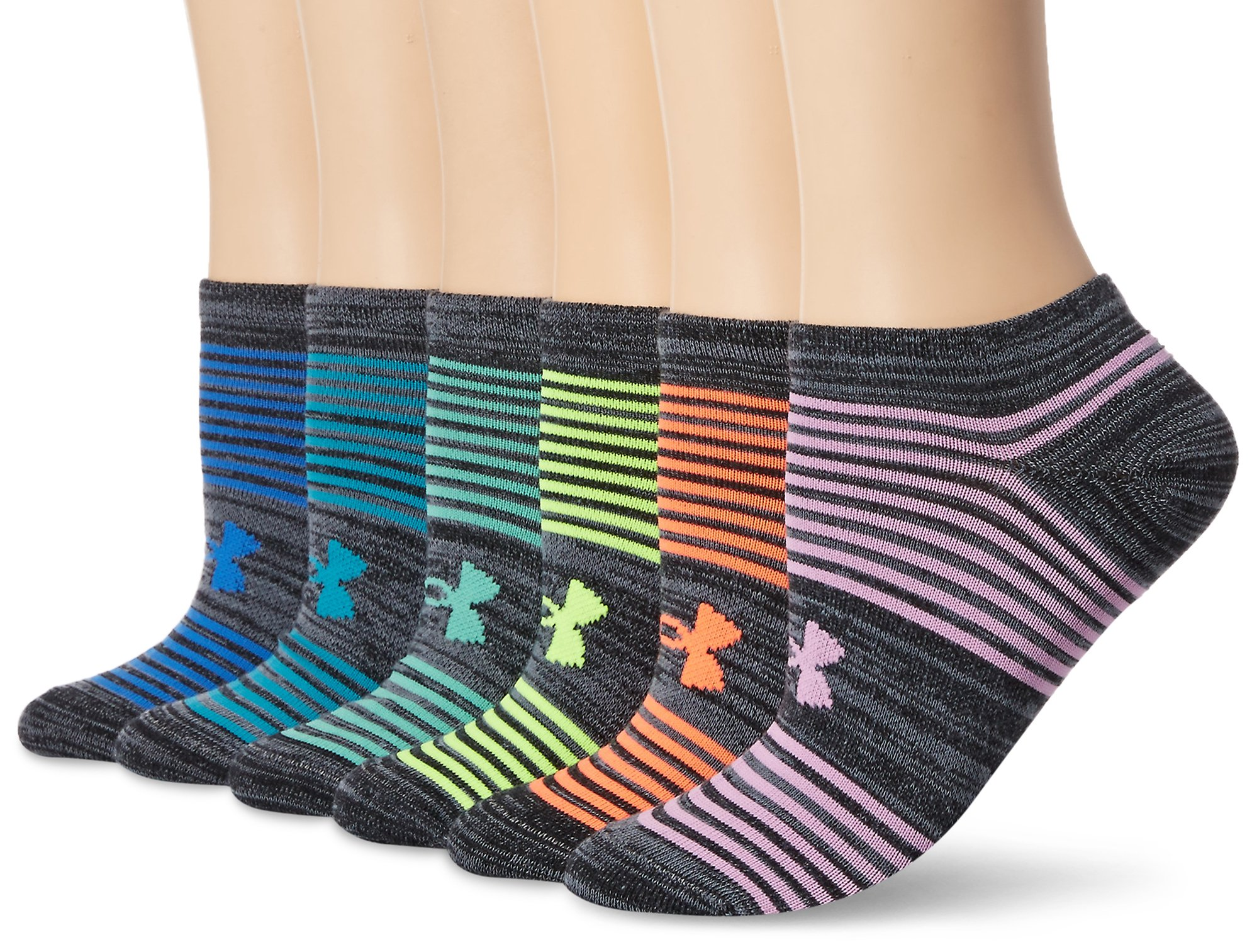 e56f9d0df03 Under Armour Women s Essential Twist 2.0 No Show Socks (6 Pack) product  image