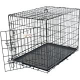 30 inch Single Door Folding Dog Crate By Majestic Pet Products Medium