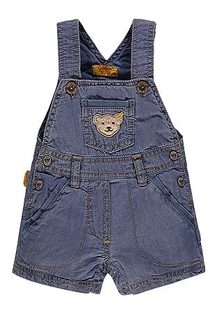 Steiff Baby-Jungen Shorts Latzbermudas Jeans