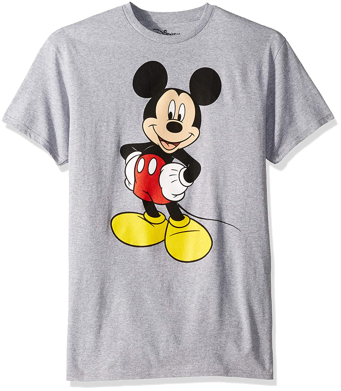 Disney Mens Mickey Wash Short Sleeve T-Shirt T-Shirt