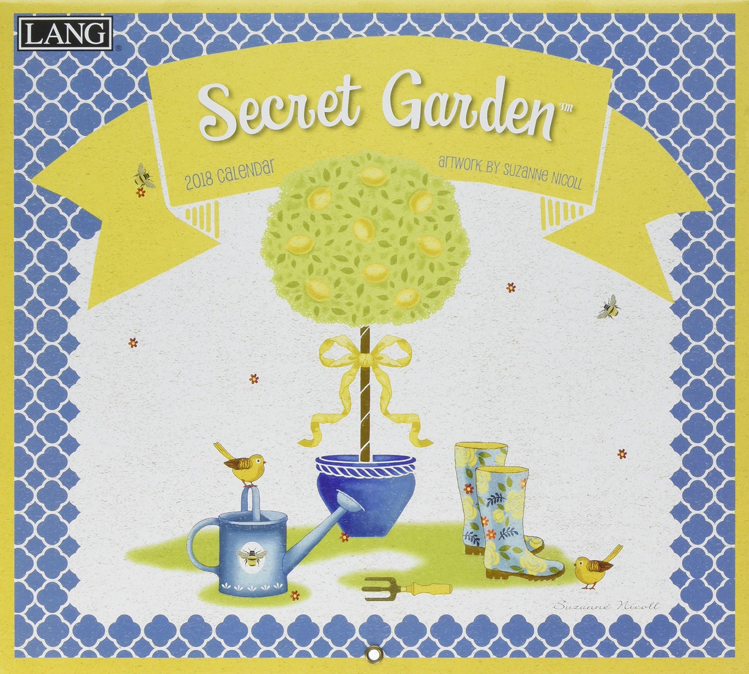 Secret Garden 2018 Calendar: Includes Downloadable Wallpaper