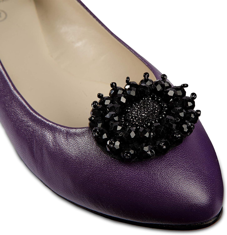 LOVE SHOES Damen 2 Schuhclips Schleife schwarz elegant Schmuck Accessoire Schuhe