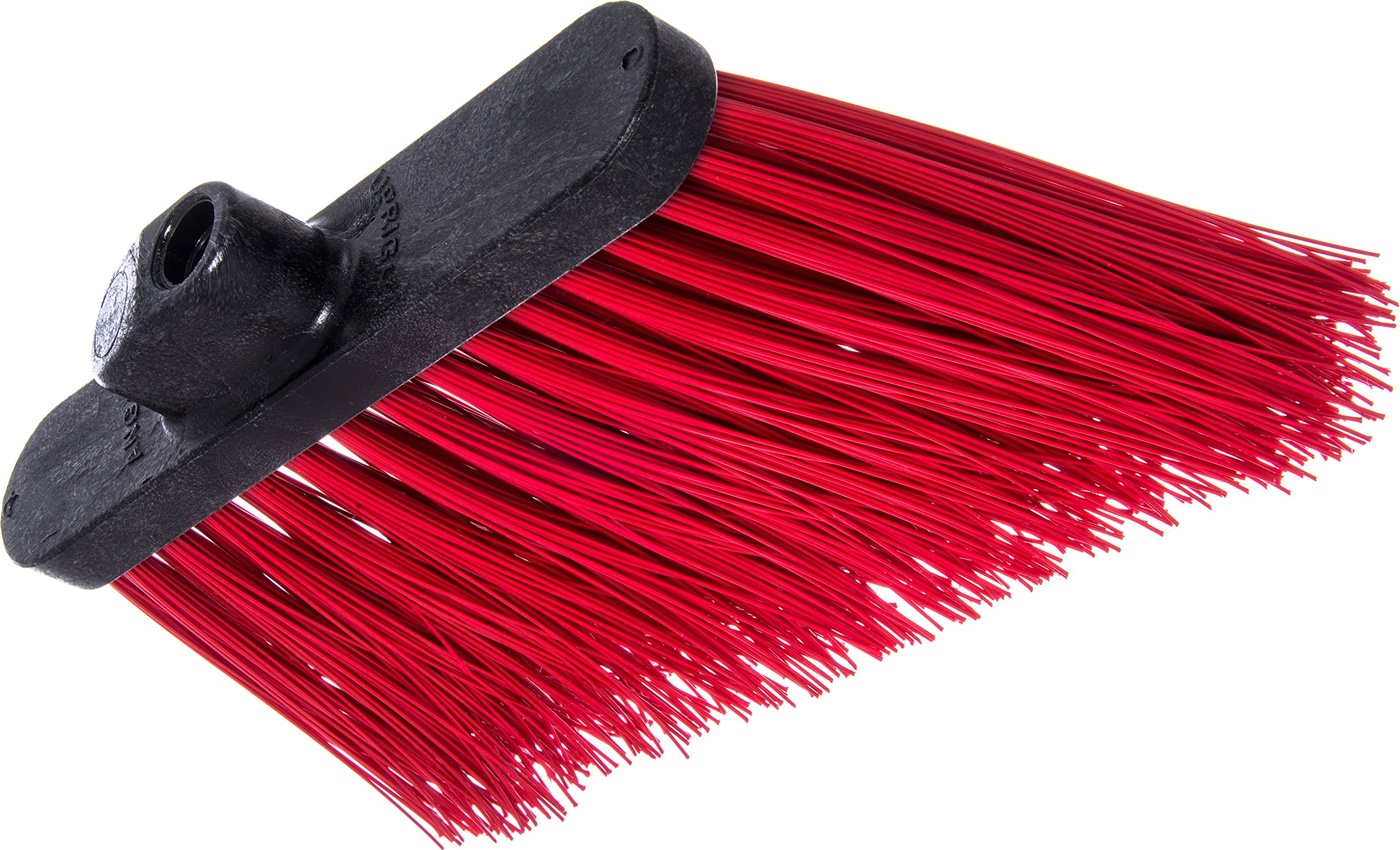 Carlisle 3686805 Duo-Sweep UnFlagged Angle Broom Head, 8'', Red