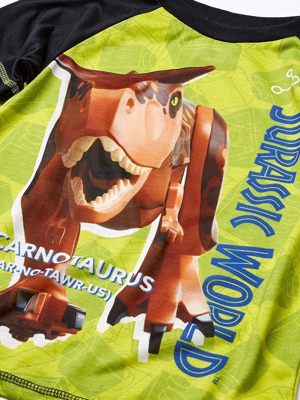 LEGO Jurassic World Boys\' 2 Piece PJ Set Long Sleeve Longpant