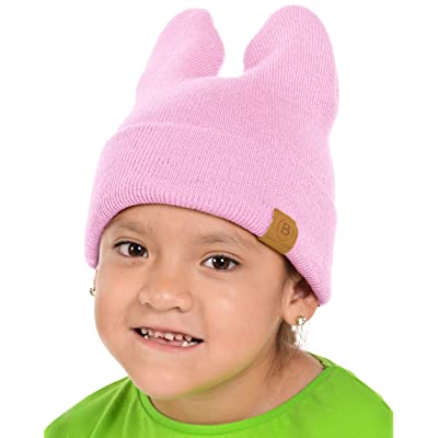 8bf83397 Basico Baby Kids Unisex Beanie Rabbit Cat Ears Knit Beanie Cute Stretchy  Warm Cap Hat