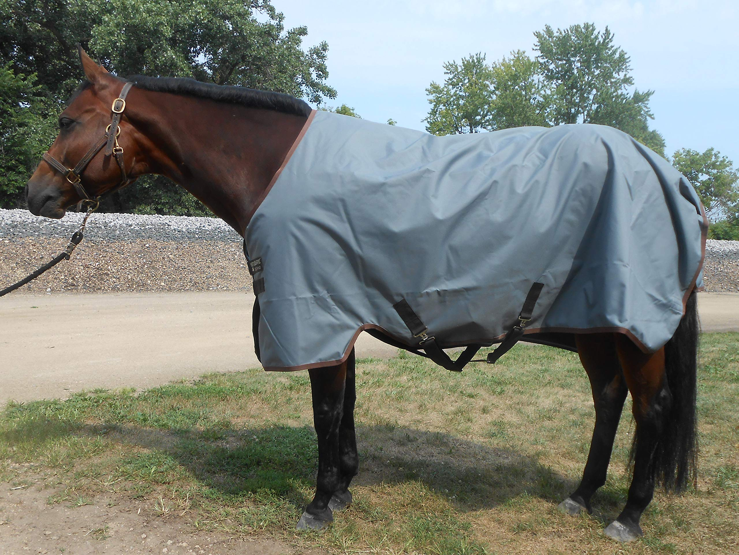 Horseware Turnout Sheet Lite Gray/Brown 75 by Horseware