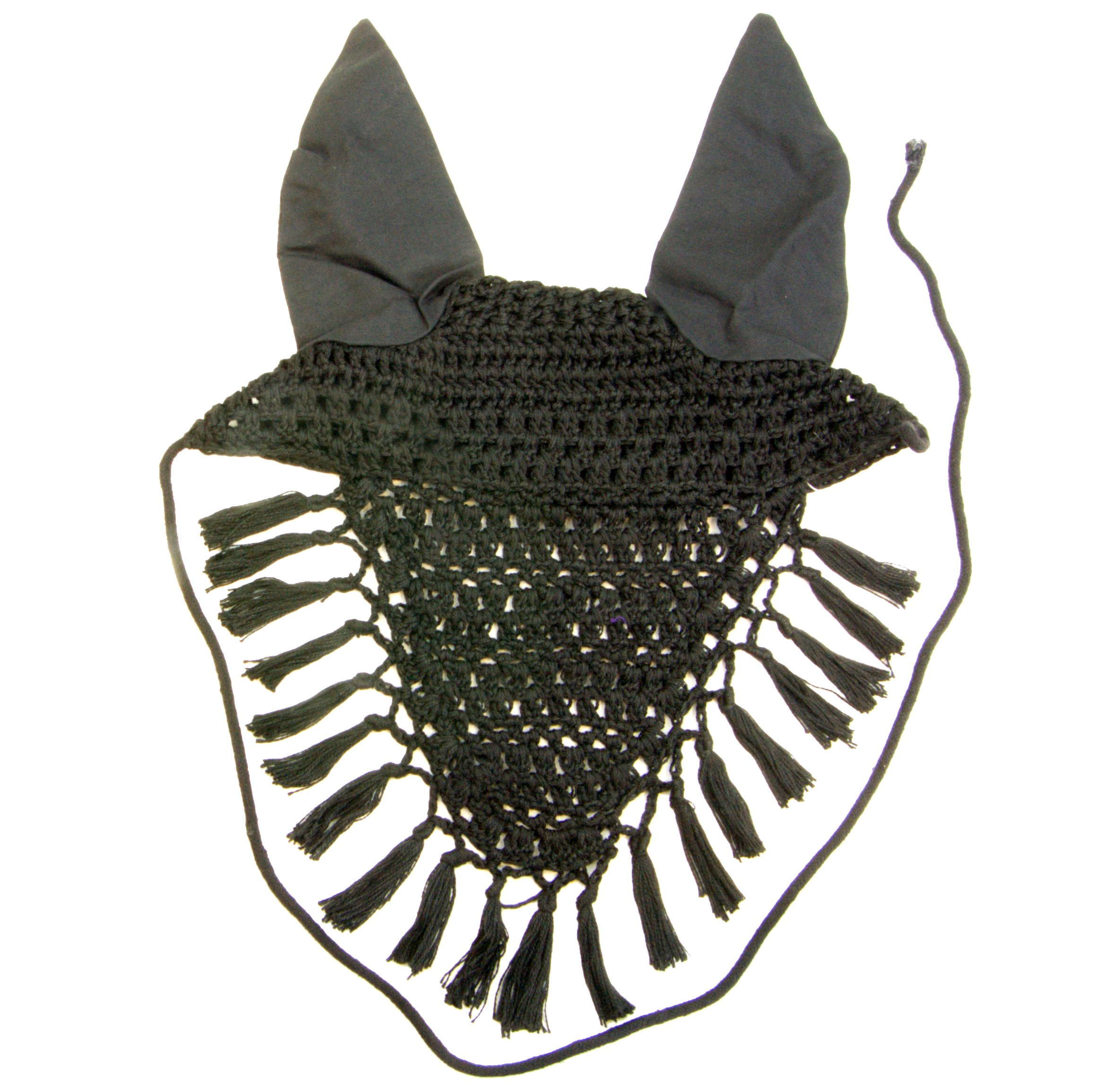 Intrepid International Fancy Ear Nets for Horses, Black