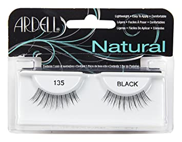 a0d6b59c37c Amazon.com : Ardell Fashion 135 Lashes, Black #61350, 0.03 Pound (Pack of  72) : Beauty