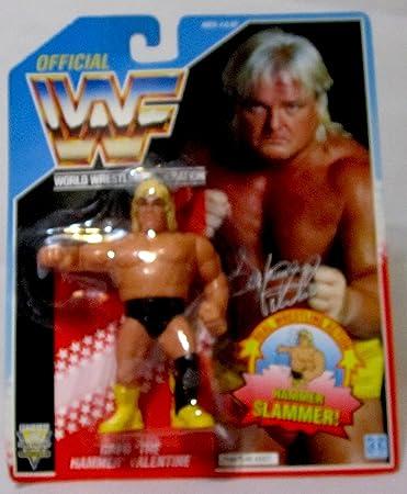 WWF 1991 Hasbro Greg U0026quot;The Hammeru0026quot; Valentine Vintage Wrestling  Figure With Hammer Slammer