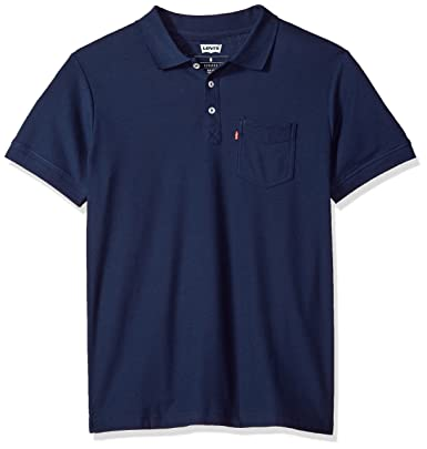 Levis Mens Rillo Short Sleeve Pique Polo, Navy, Large Tall ...