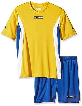 Lotto Sport Shirt mit Short Kit Stars - Camiseta de equipación de fútbol para hombre,
