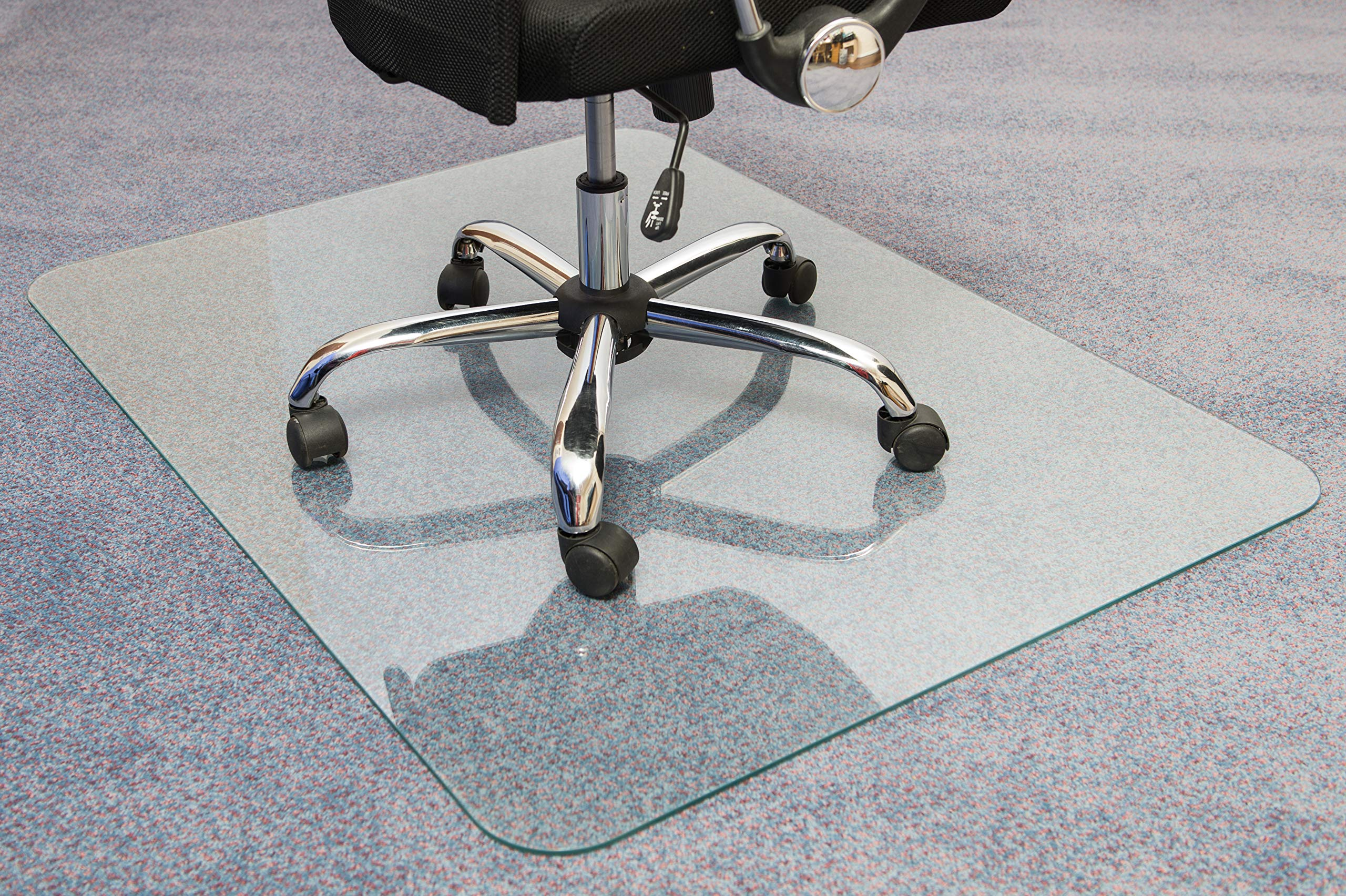 Cleartex Glaciermat, Reinforced Glass Executive Chair Mat for Hard Floors/Carpets, 36'' x 48'' (FC123648EG) by Floortex (Image #6)