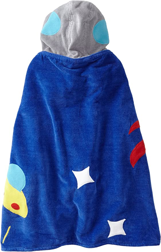 Rocket KIDORABLE Space Hero All-Cotton Hooded Blue Towel for Boys w//Fun Astronaut Helmet