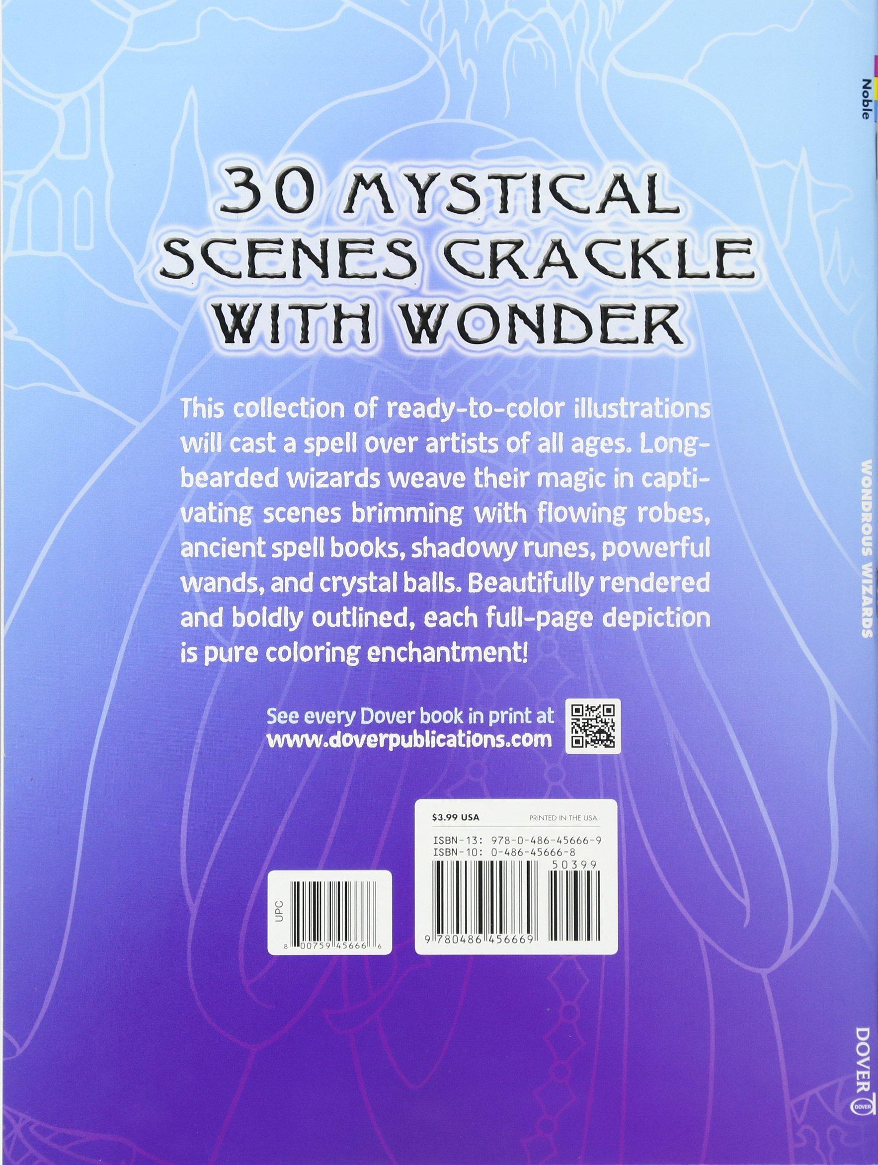 Amazon: Wondrous Wizards (dover Coloring Books) (9780486456669): Marty  Noble: Books