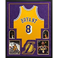 $6999 » Kobe Bryant Los Angeles Lakers Autograph Signed Custom Framed Jersey Mitchell & Ness AUTHENTIC Throwback Suede Matted 4 Picture Panini…