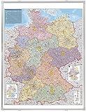 Franken KA440M Kartentafel Plz (Deutschland magnethaftend 1:750.000) 138 x 98 cm