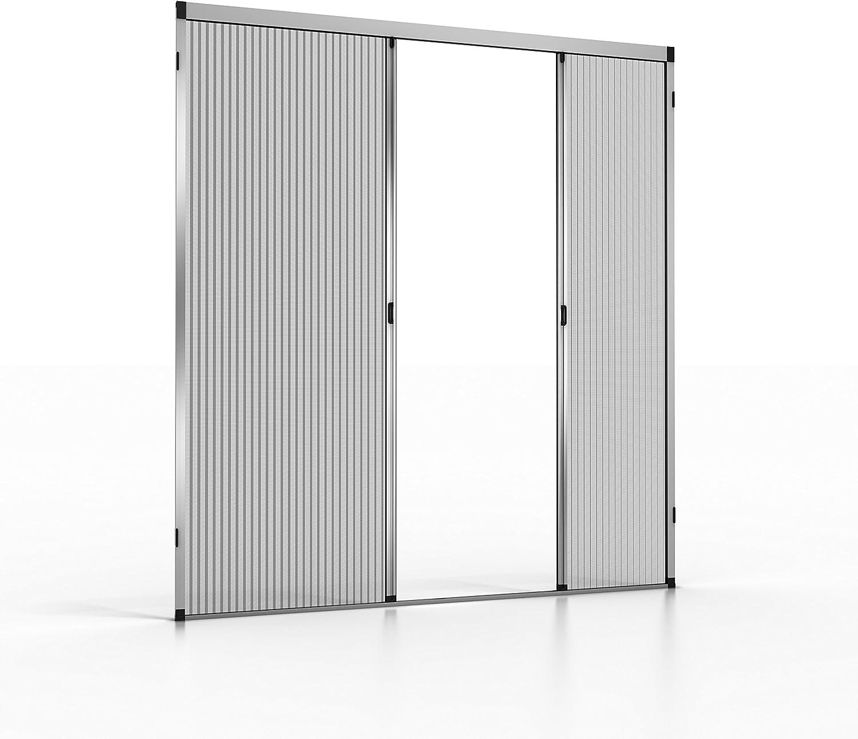 noflystore Platinum. 02 medida plisada Fly pantallas para puertas y ventanas, aluminio, marrón, 150 x 200 cm: Amazon.es: Hogar