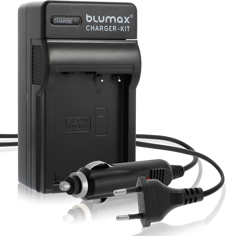 Blumax Akku ersetzt Panasonic DMW BLC12 1100mAh Doppelladeger/ät f/ür Panasonic DMW BLC12 Akku Dual Charger 2 Akkus gleichzeitig Laden