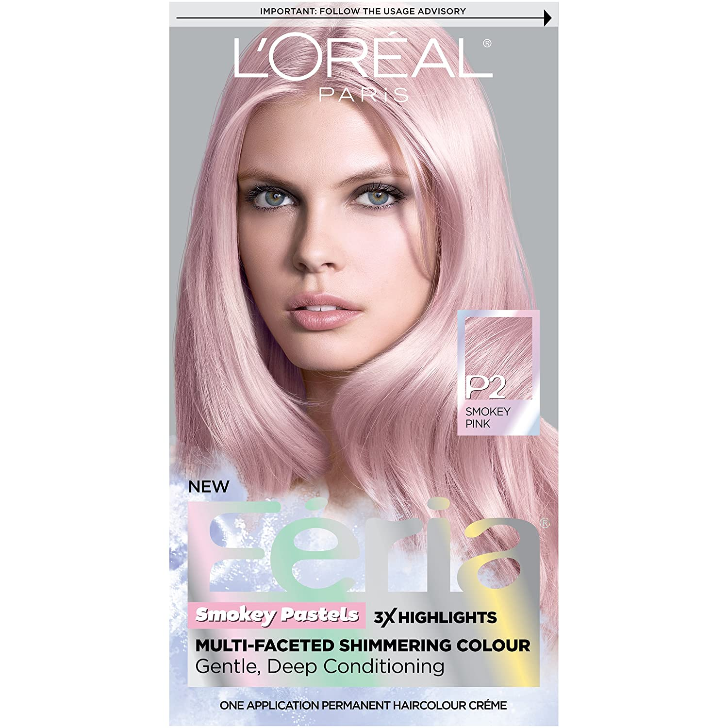 Amazon.com : L\'Oréal Paris Feria Pastels Hair Color, P2 Rosy Blush ...