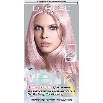 L\'Oréal Paris Feria Pastels Hair Color, P2 Rosy Blush (Smokey Pink)