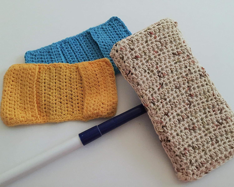 Amazoncom Crochet Reuseable Sweeper Mop Covers Handmade