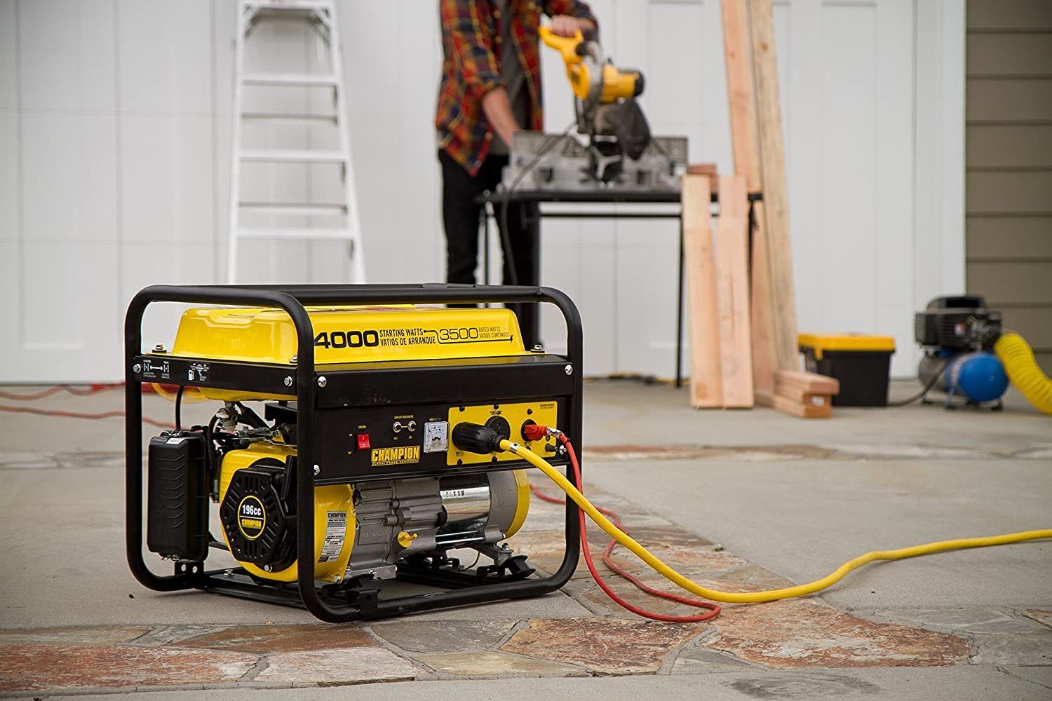 Champion 4000-watt generator is suitable for operating a vast array of electric tools