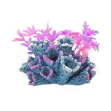 Rosewood Fantasy - Figura Decorativa para Acuario o pecera, diseño de Arrecife con Plantas: Amazon.es: Productos para mascotas