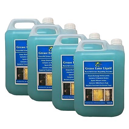 Las bacterias de la enzima Hydra limpio de grasa-comedor 4 x ...