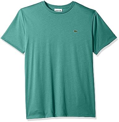 16df6da7 Lacoste Men's Short Sleeve Jersey Pima Regular Fit Crewneck T-Shirt,  TH6709-51