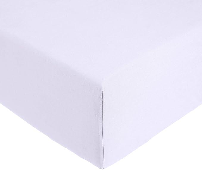 69f71fe4e3f AmazonBasics Everyday - Sábana bajera ajustable (100% algodón) Lila - 180 x  200 x 30 cm  Amazon.es  Hogar