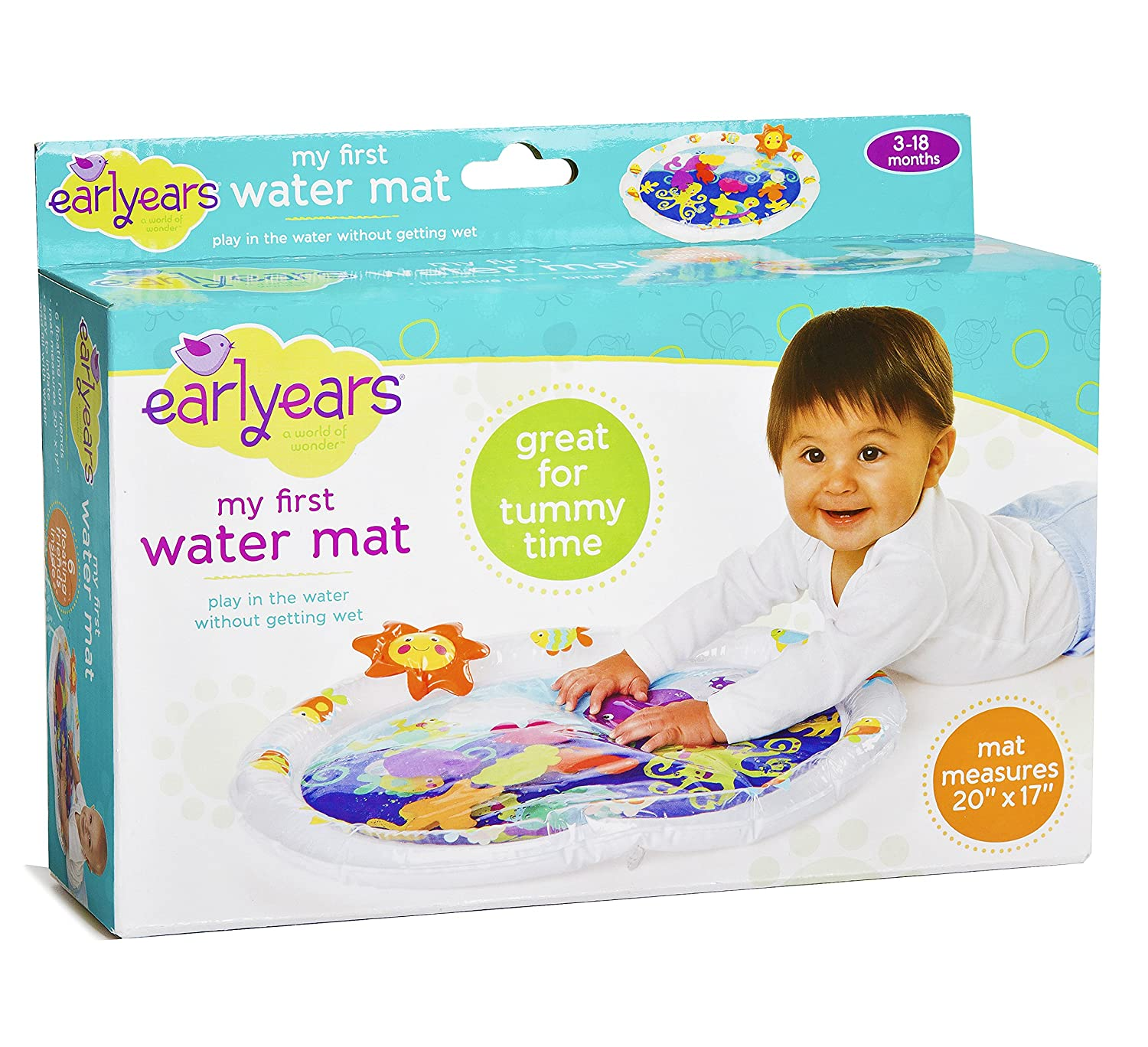 Amazon Earlyears Fill N Fun Water Play Mat for Tummy Time Baby