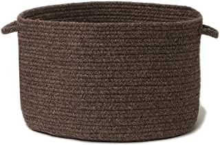 product image for Colonial Mills Natural Wool Houndstooth Utility Basket, 14 by 10-Inch, Caramel