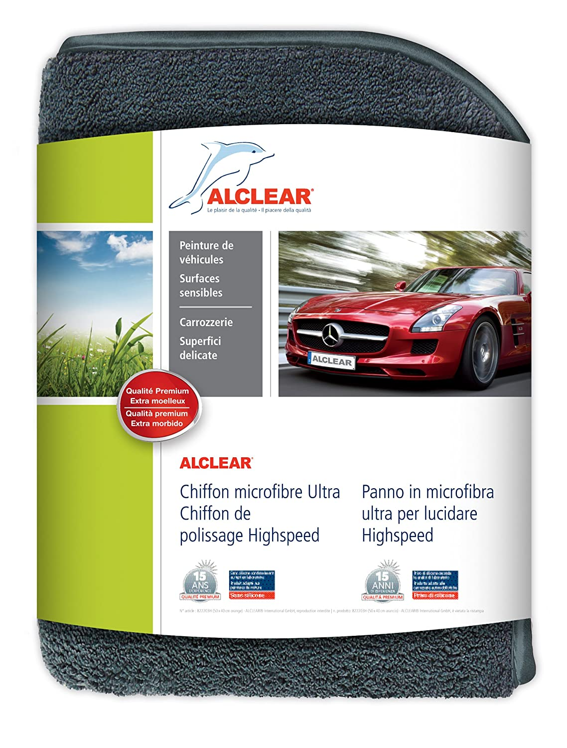 ALCLEAR 822203H - Panno in microfibra anti-ologrammi Highspeed per lucidatura auto ALCLEAR International GmbH