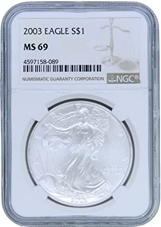 2003 American Silver Eagle NGC MS-69-60686