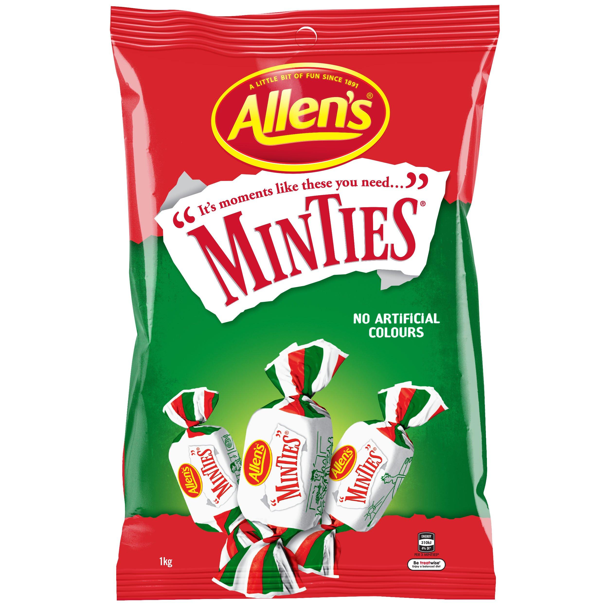 Allen's Minties Large Bag 1kg. - Australian