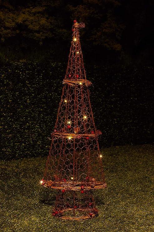 alpine corporation rattan light up christmas tree decor
