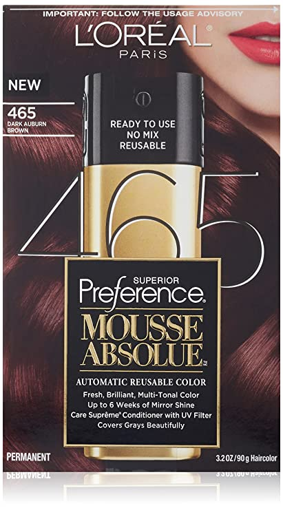 L\'Oreal Paris Superior Preference Mousse Absolue Hair Color - 465 ...