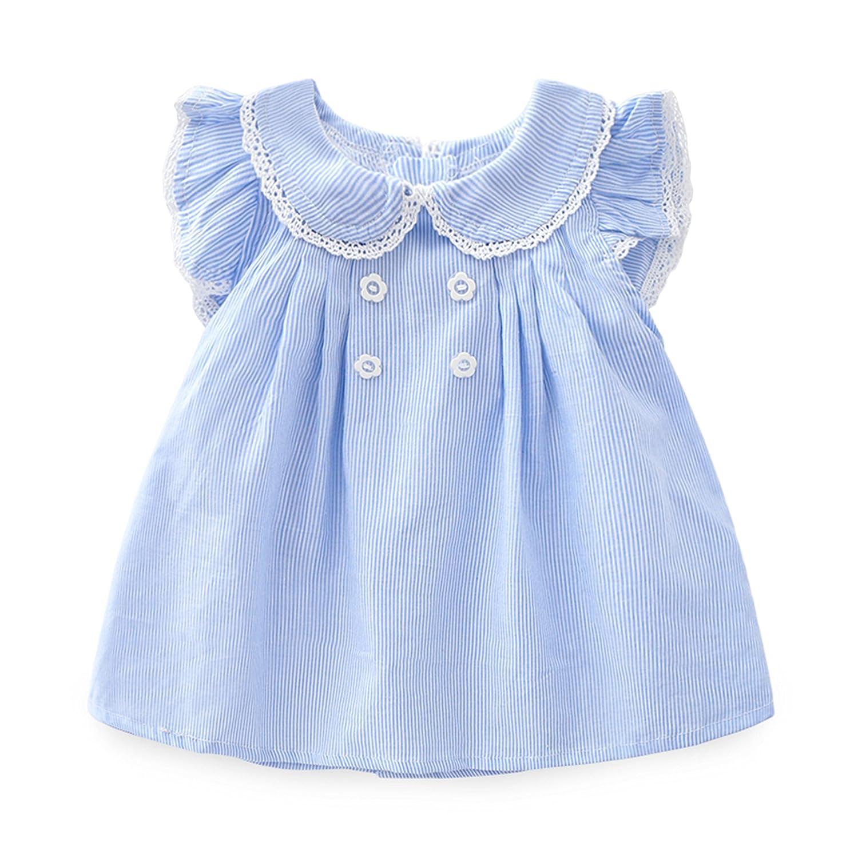 34e7a3bc8aa4 Amazon.com   NOMSOCR Newborn Baby Girls Infant Summer Sleeveless ...